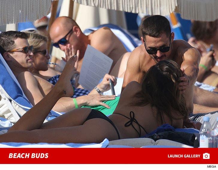 Danny Amendola and Mystery Miami Beach Babe