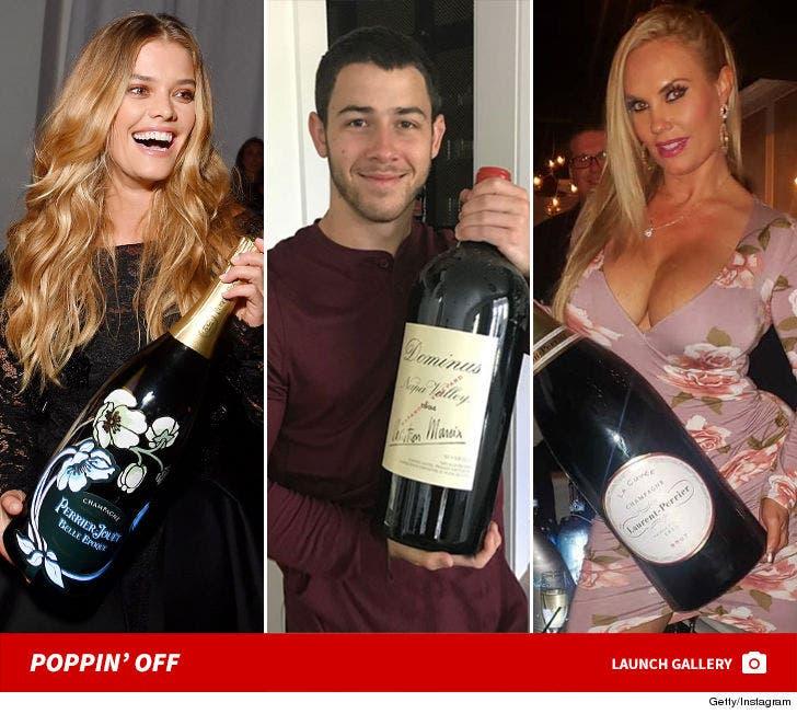 Stars Celebrating With Big Bottles
