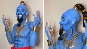 DeAndre Hopkins Rocks Insane Genie Costume, Deshaun Watson Keeps Eye Covered