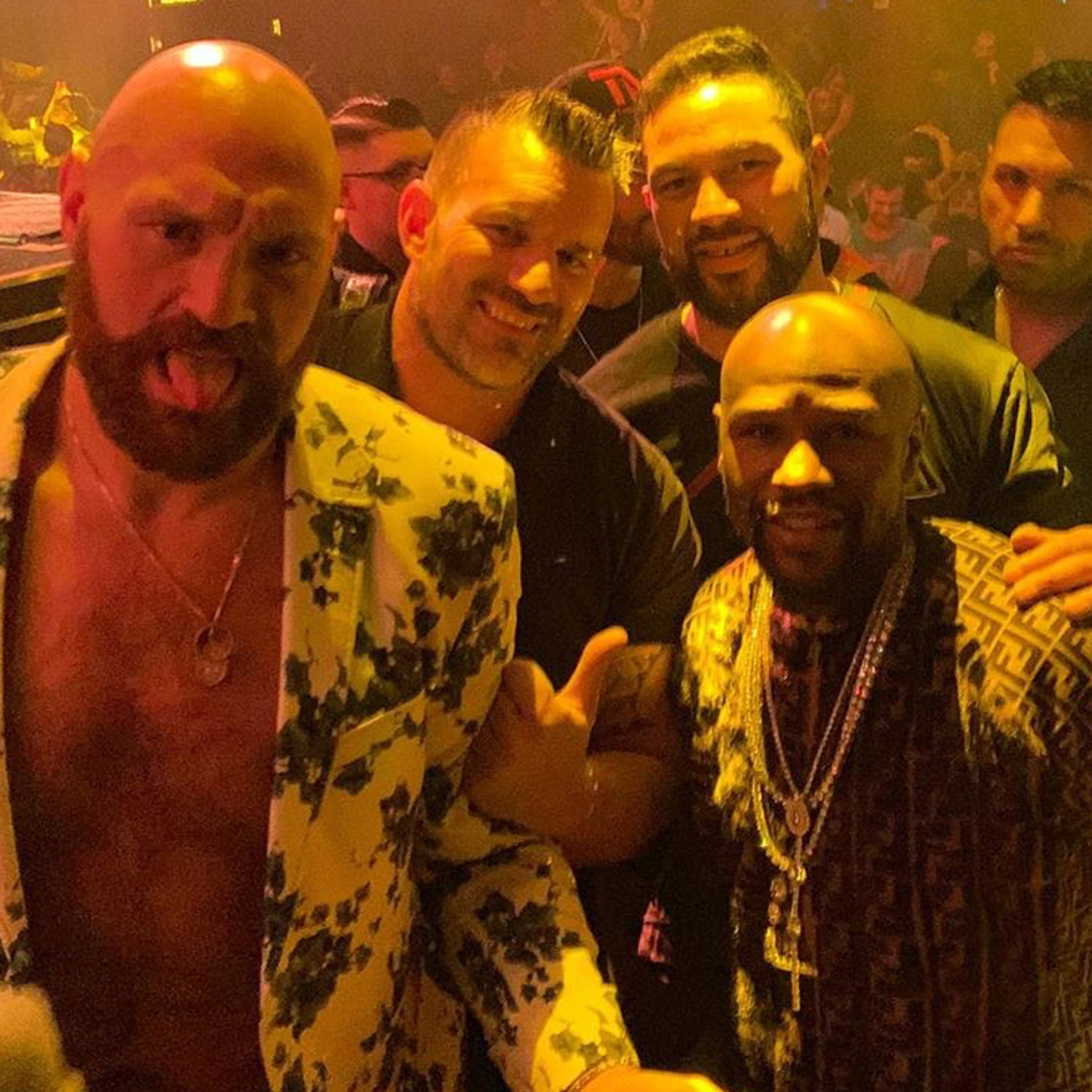 Tyson Fury Hits Vegas Club with Floyd Mayweather, Ric Flair
