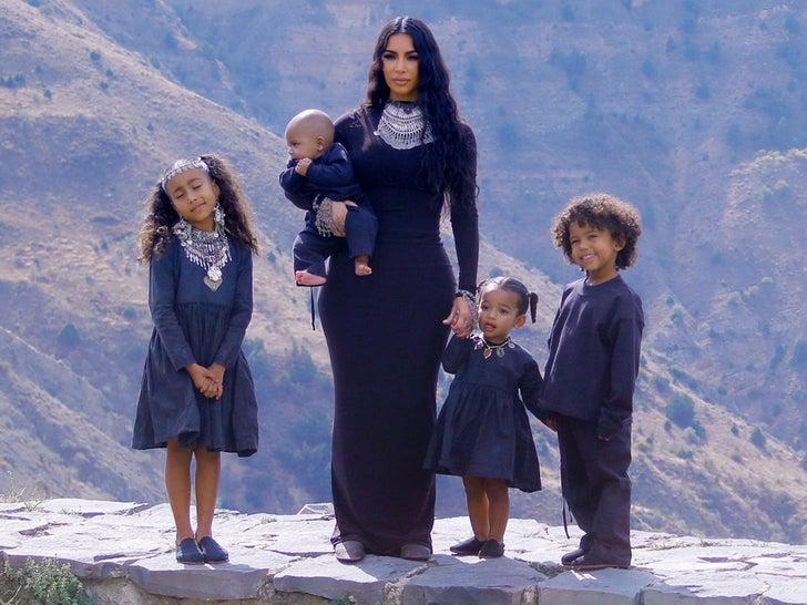 Kim And Kourtney Kardashian's Family Photo Shoot In Armenia