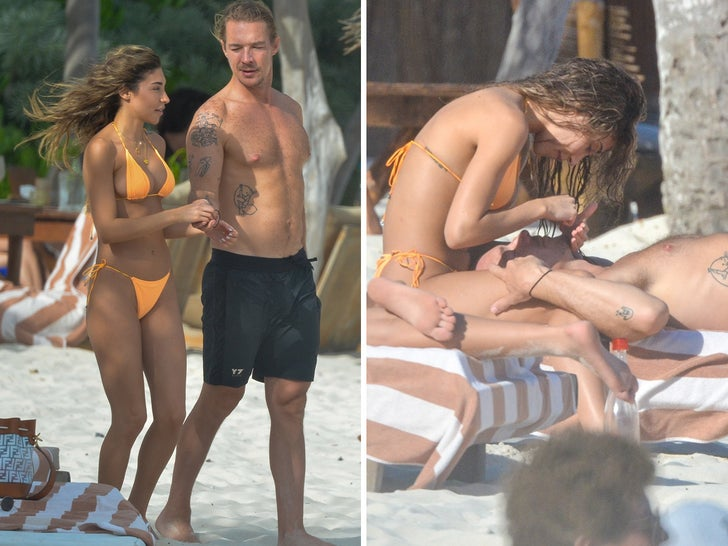 Chantel Jeffries Gets Cozy with Diplo in Mexico
