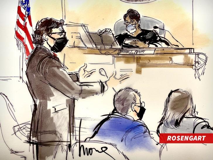 Mathew Rosengart inside courtroom