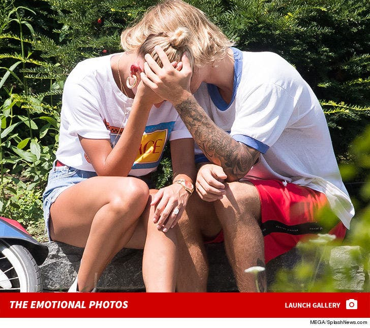 Justin Bieber and Hailey Baldwin Get Emotional While Riding Bikes in NYC