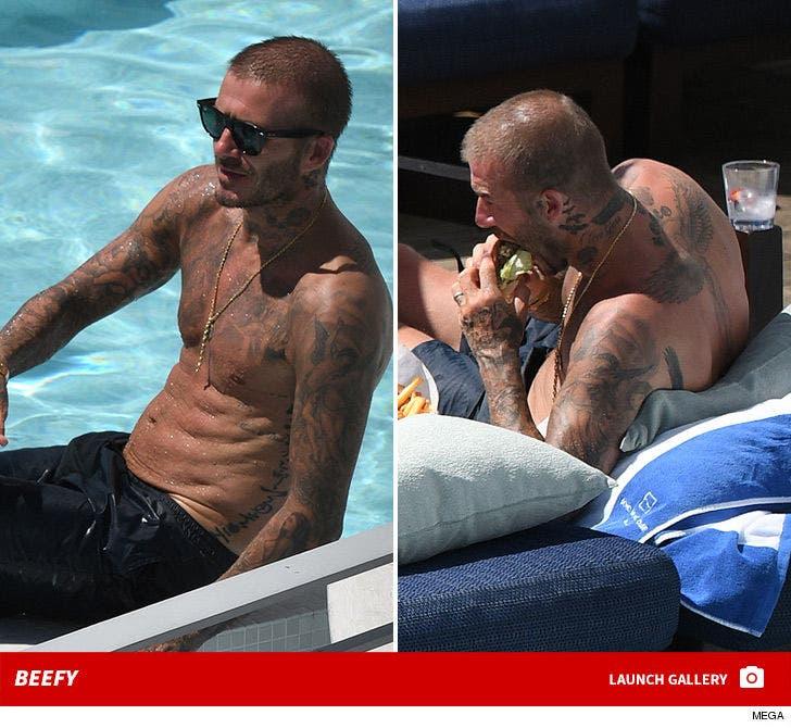 David Beckham Shirtless in Miami ... Beefy