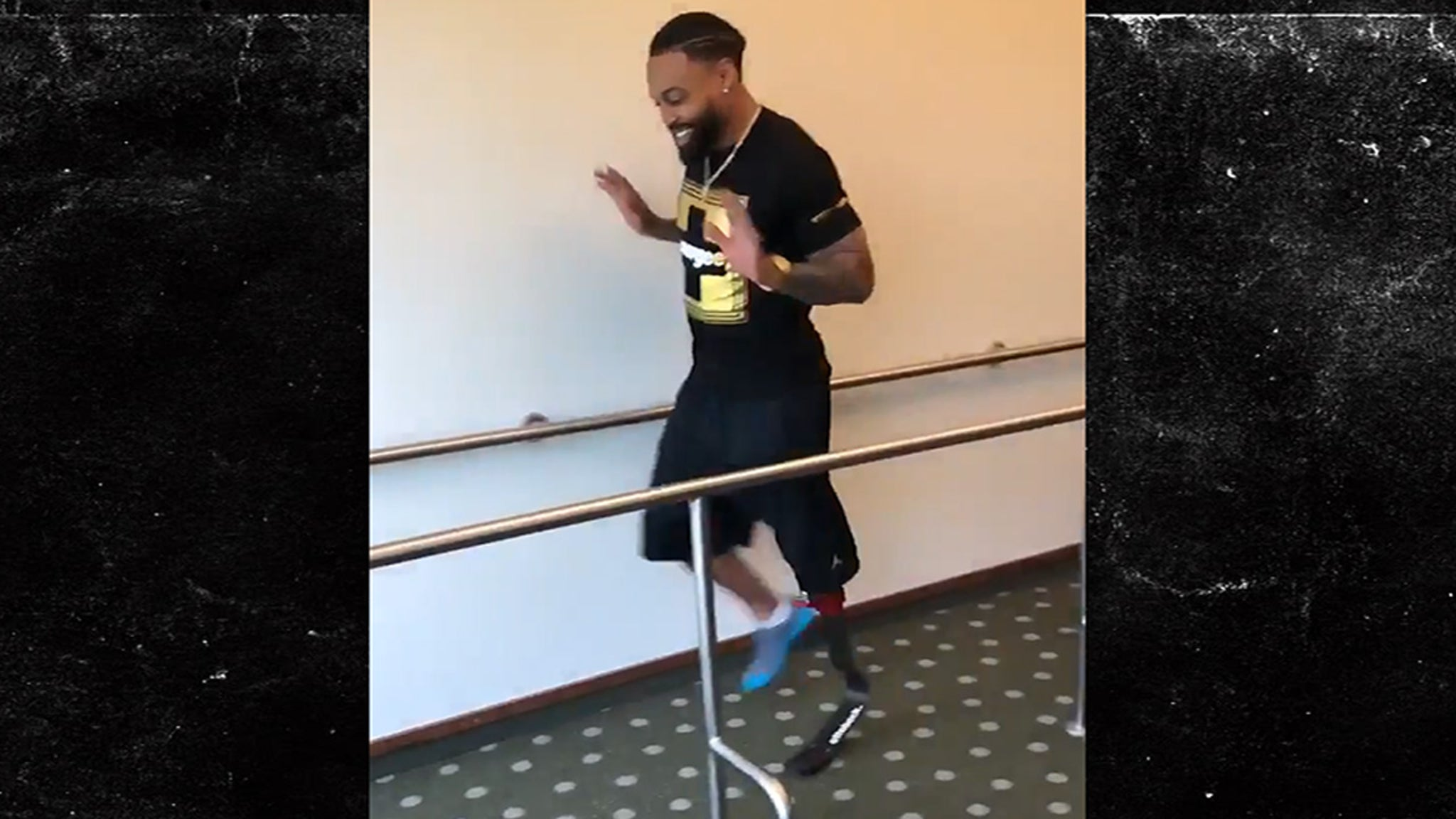 Ex-NFL RB Isaiah Pead Takes First Steps in Prosthetic Running Leg