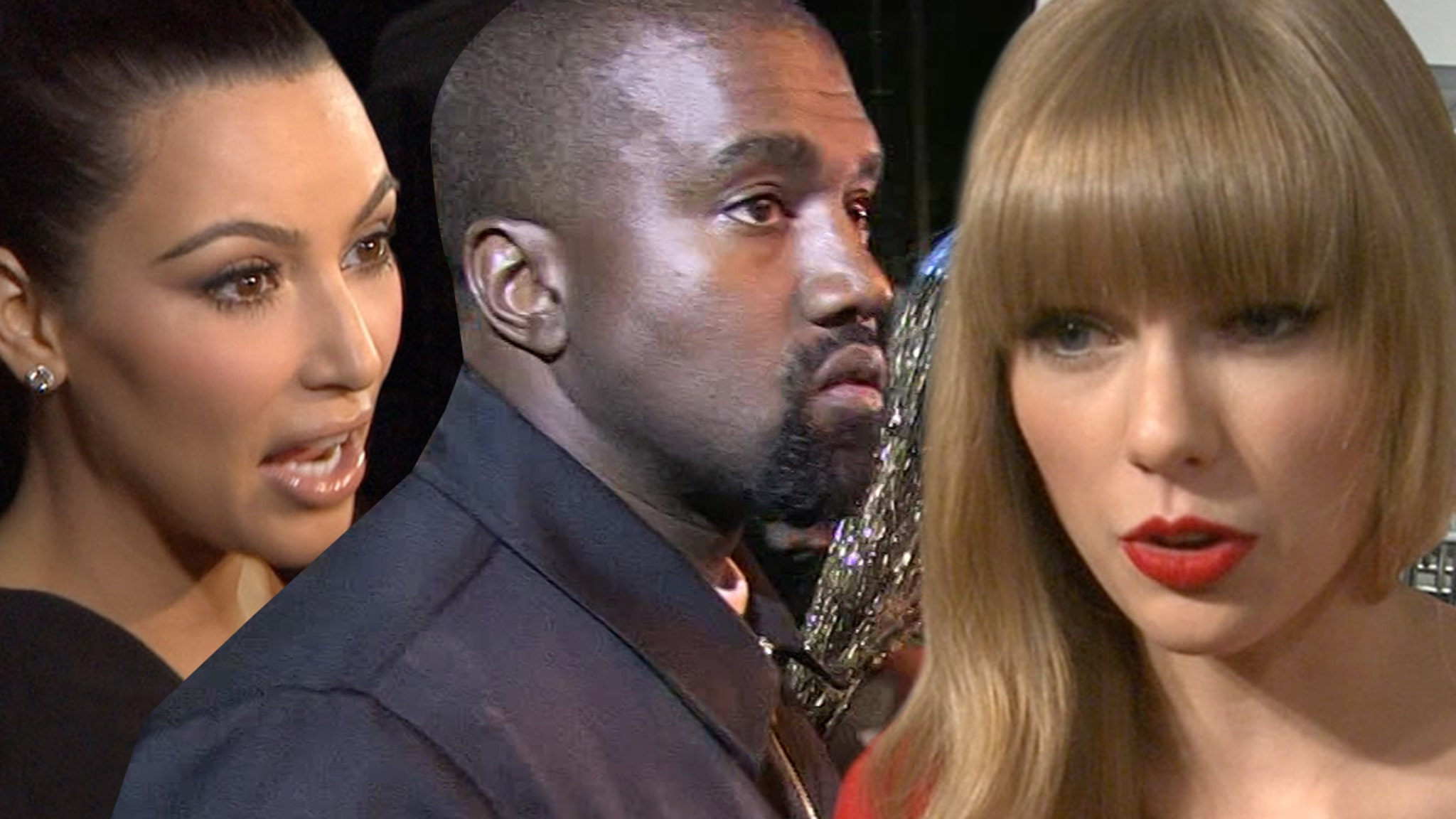 Kim Kardashian West Fires Back at Taylor Swift ... You're Lying About Old Kanye Vid!!!
