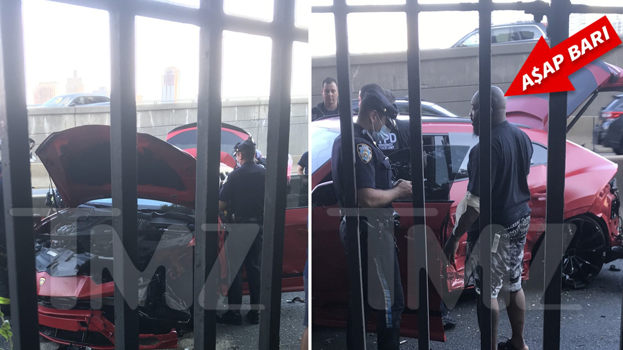 A$AP Bari Involved in Lamborghini Wreck in NYC