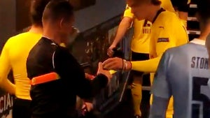 Soccer Star Erling Haaland Autographs Yellow Card For Ref After Match, Bizarre Moment
