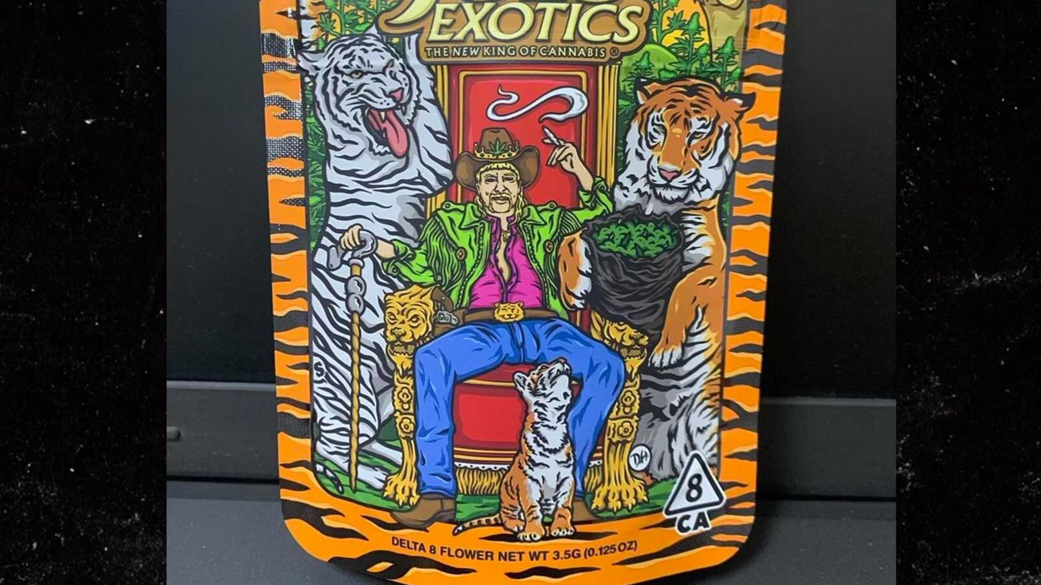 Joe Exotic's Weed Line Packaging Features Tiger Stripes, Pride Flag