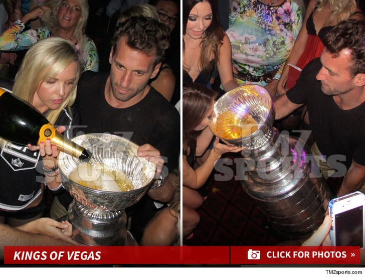 L.A. Kings Stars -- BOOZIN' FROM STANLEY CUP ... During Vegas Rager!