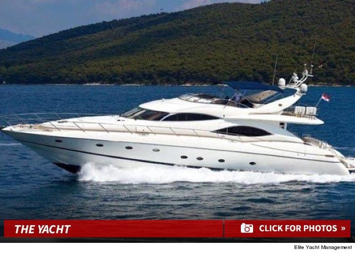 "Calvin Harris' Yacht in ""How Deep Is Your Love"""