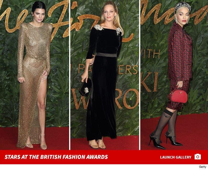 Stars at the British Fashion Awards