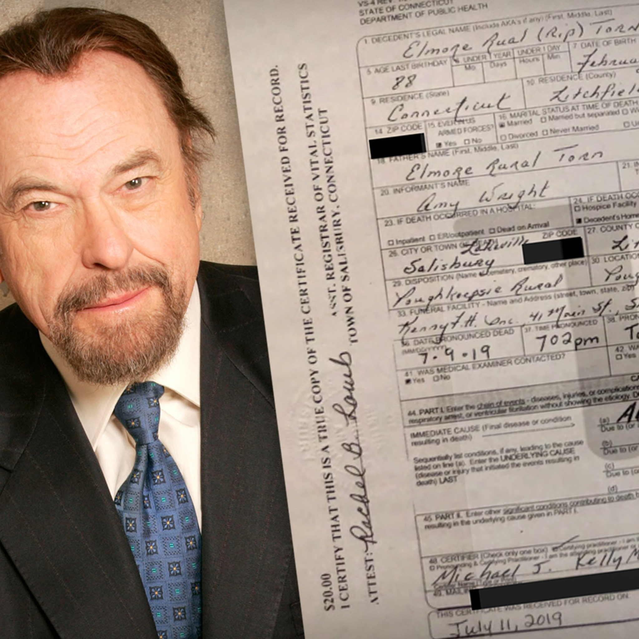 Rip Torn Died of Alzheimer's, According to Death Certificate