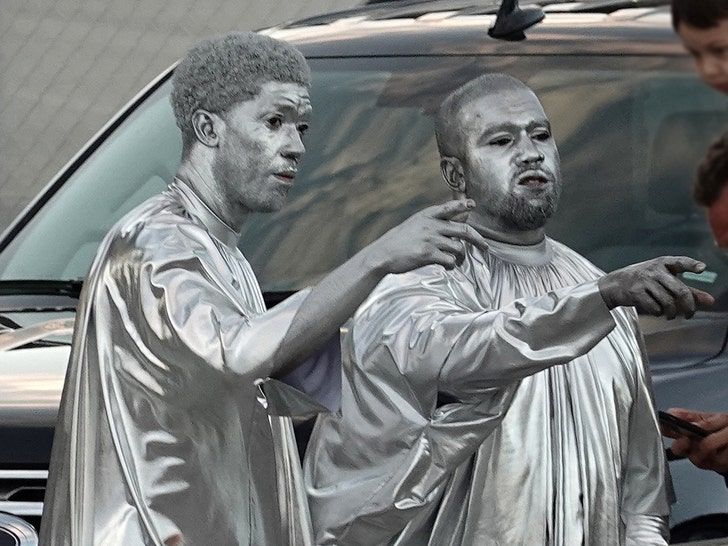 Kanye West Painted Himself Silver for His New Opera & Twitter Has Questions