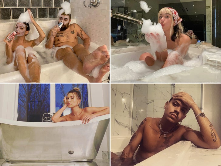 Sexy Stars In Suds -- Bathtub Beauties!