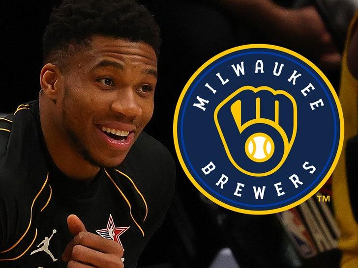 giannis antetokounmpo Milwaukee Brewers
