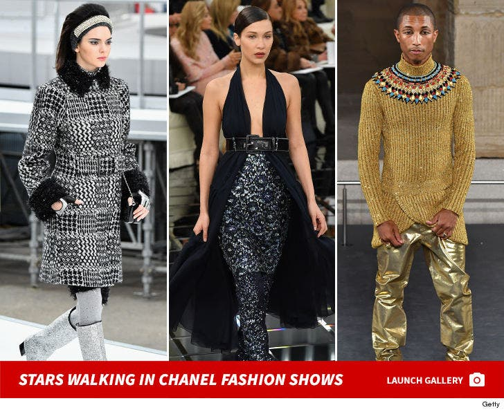 Celebs Walking The Chanel Runway