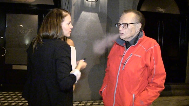 Larry King Takes a Hit of a Vape Pen, Coughs It Up
