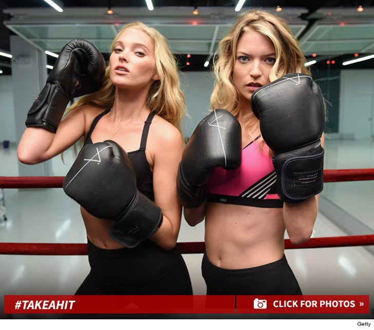 Elsa Hosk & Martha Hunt -- The Tough VS Angels
