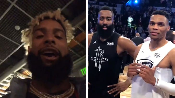 huge discount 0360b 44fac Odell Beckham Jr. Trolls Russ and Harden in All-Star Roast Sesh