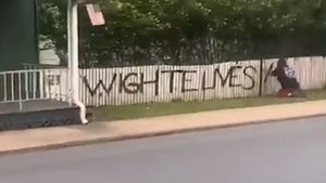 Spray Painter Writes 'Wighte Lives Matter' On Picket Fence