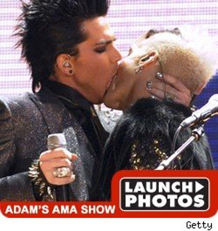 Adam Lambert Embraces Naked Women