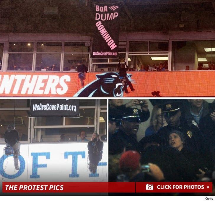 Monday Night Football -- Bank of America Stadium Protest