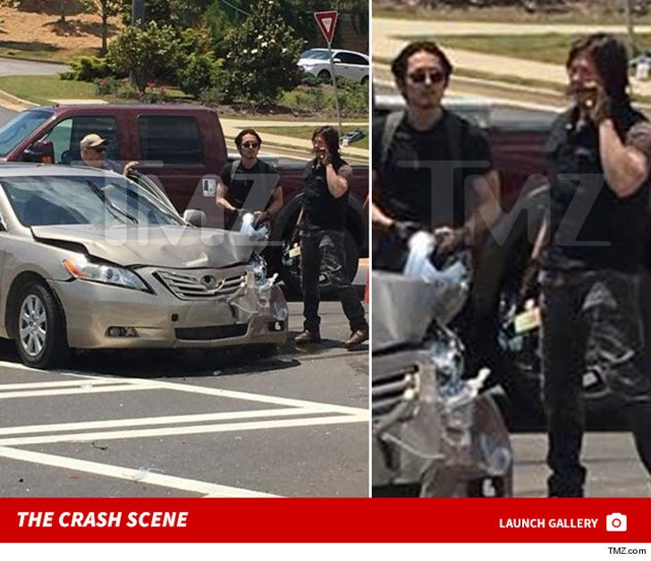 The Walking Dead -- Norman Reedus and Steven Yeun ... Real Life Heroes