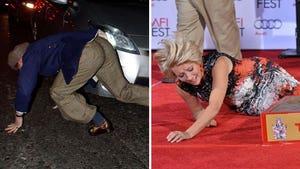 Celebrity Falls -- Stars Taking Spills!