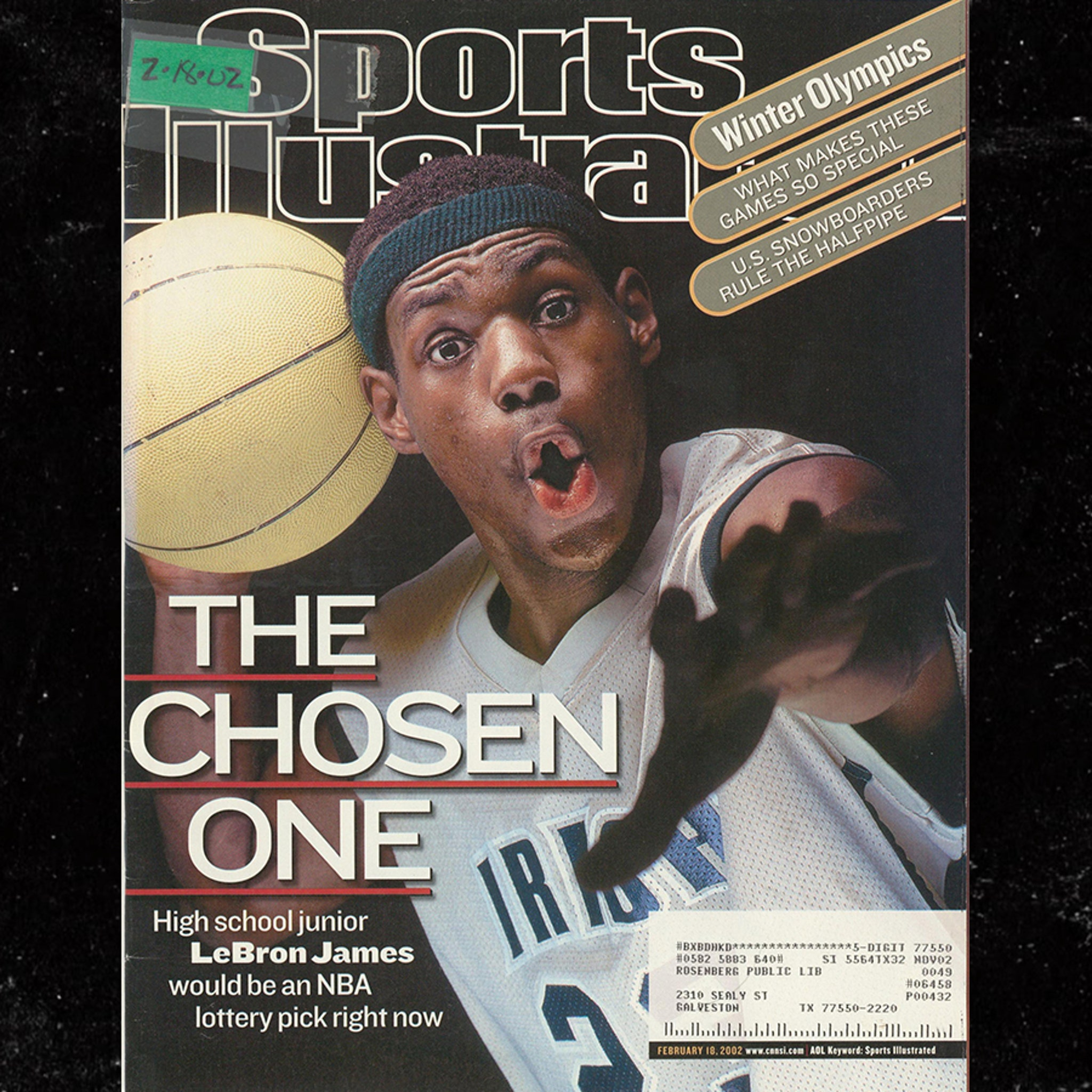 LeBron James' Jersey From '02 SI Cover Hits Auction Block, Could Get $300K+