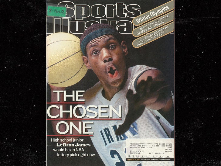 the best attitude b3b21 088ff LeBron James' Jersey From '02 SI Cover Hits Auction Block ...