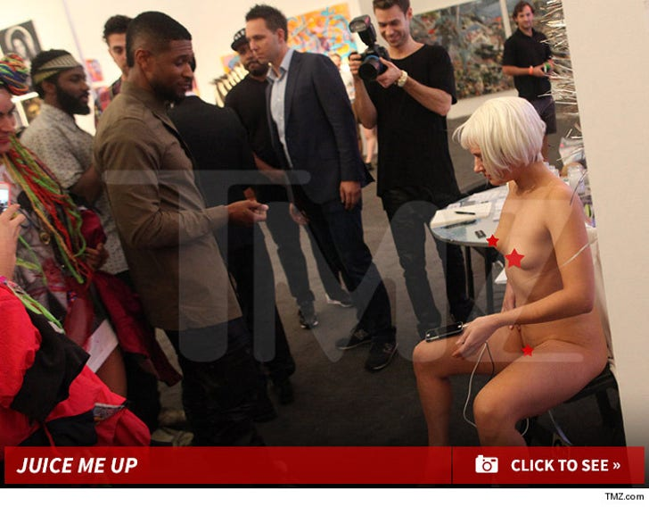 Usher Charges iPhone from Naked Girl
