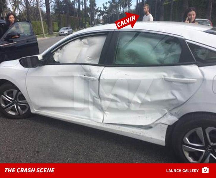 Calvin Harris Car Crash Photos