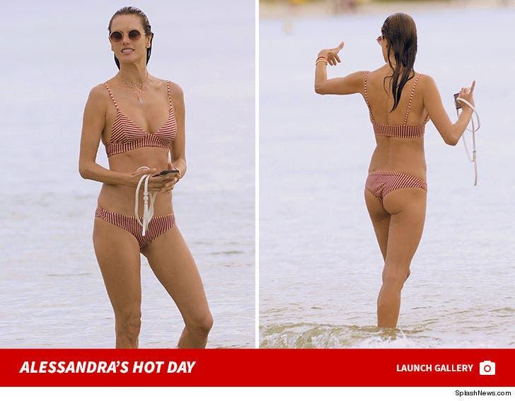 Alessandra Ambrosio's Beach Volleyball Shots