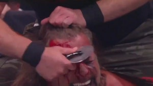AEW's Chris Jericho Attacked By Pizza Cutter In Wild, Bloody Match