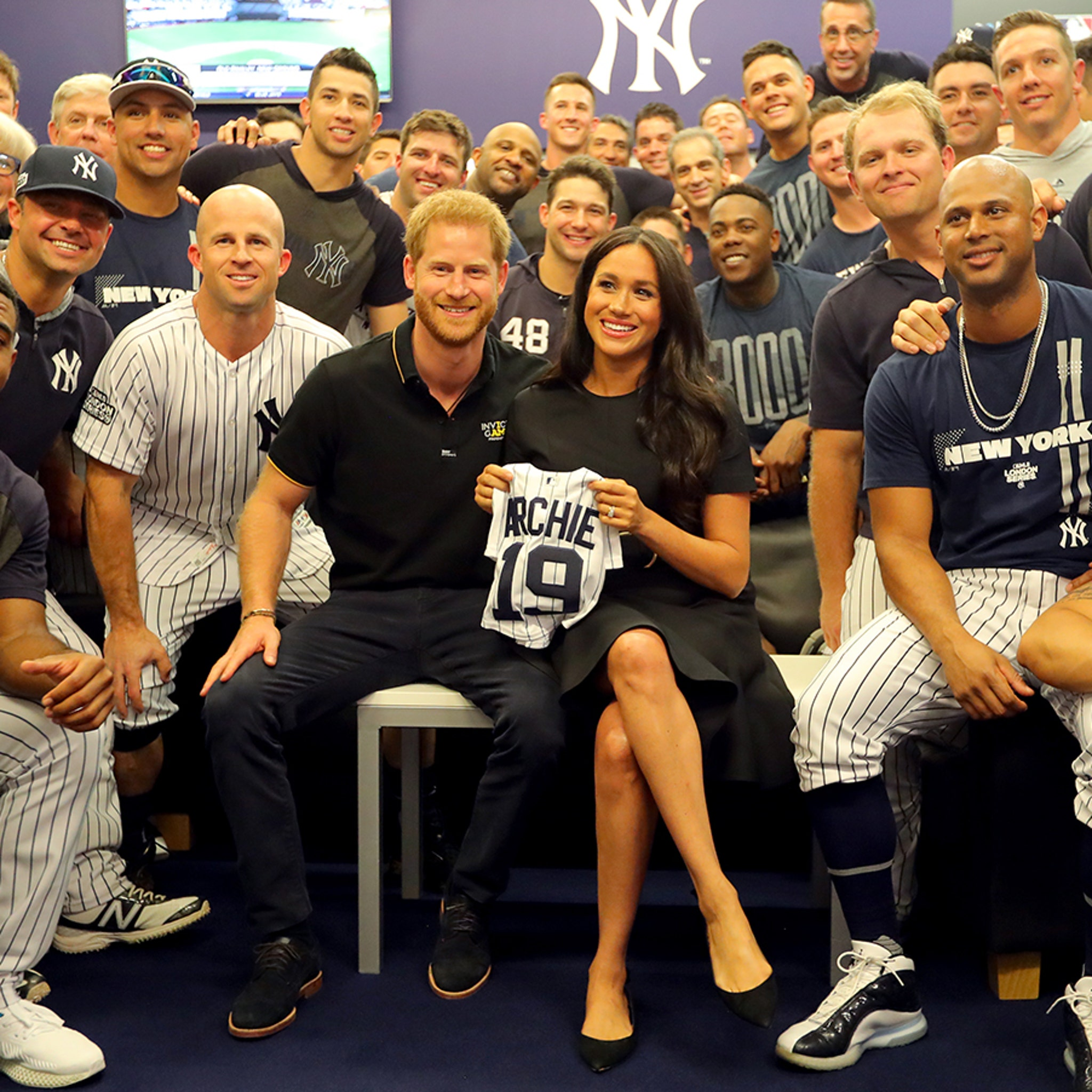 the best attitude d210b c3aee Meghan Markle, Prince Harry Gifted 'Archie' Jersey at ...