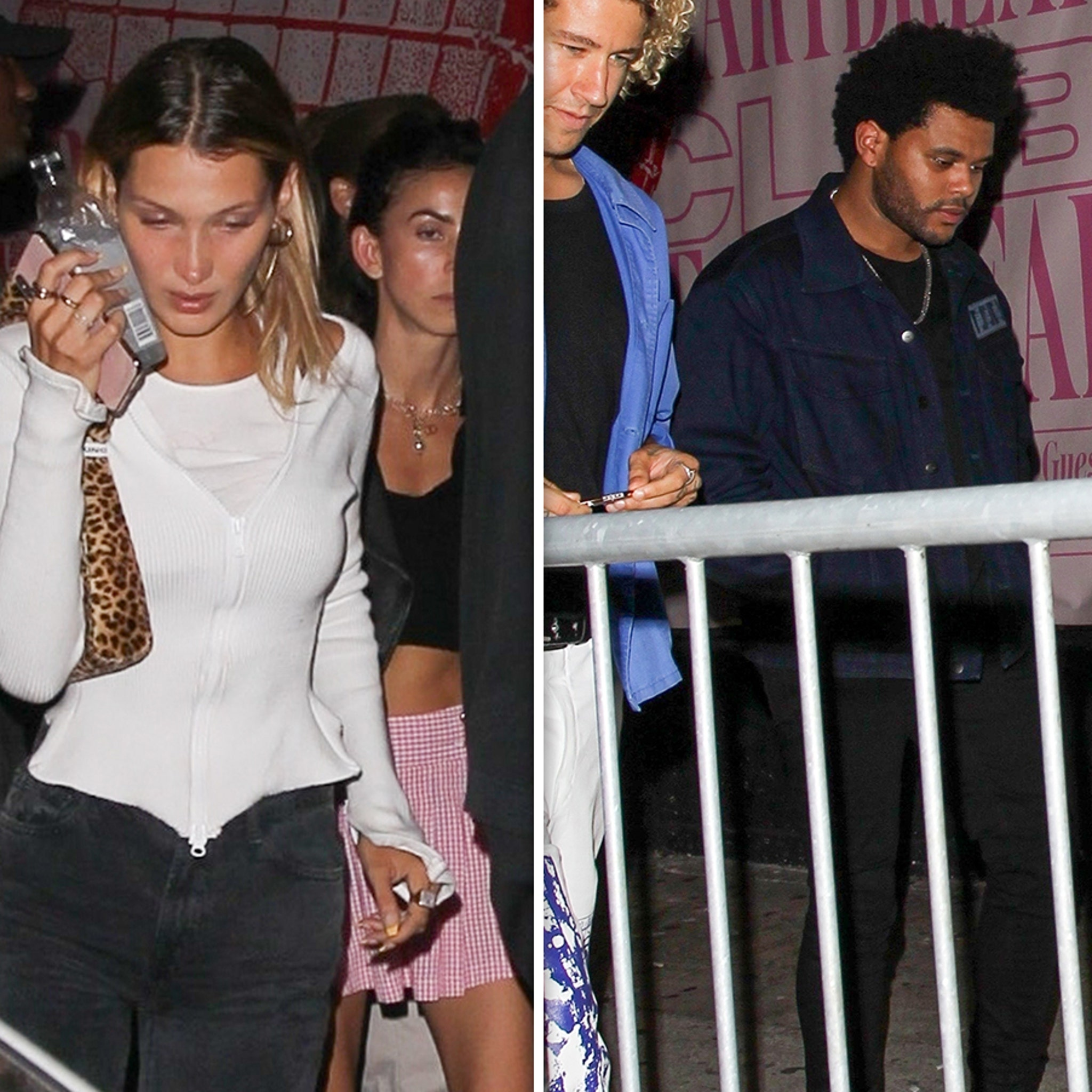Bella Hadid Leaves Club Minutes After The Weeknd Shows Up