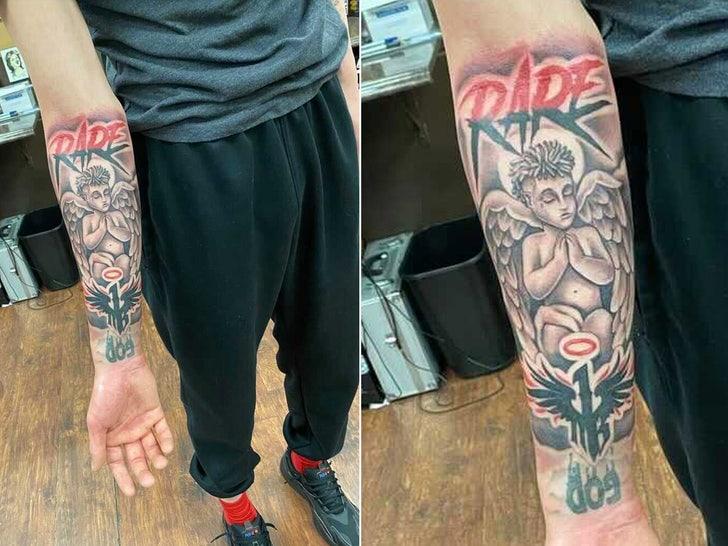 LaMelo Ball tattoo