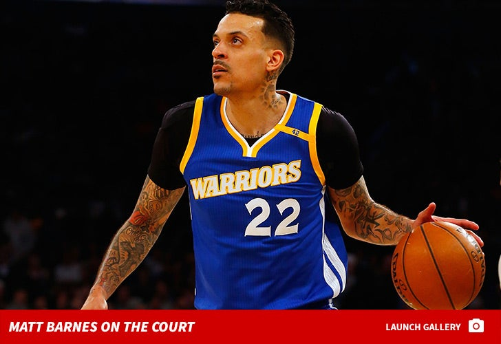 Matt Barnes on the Court