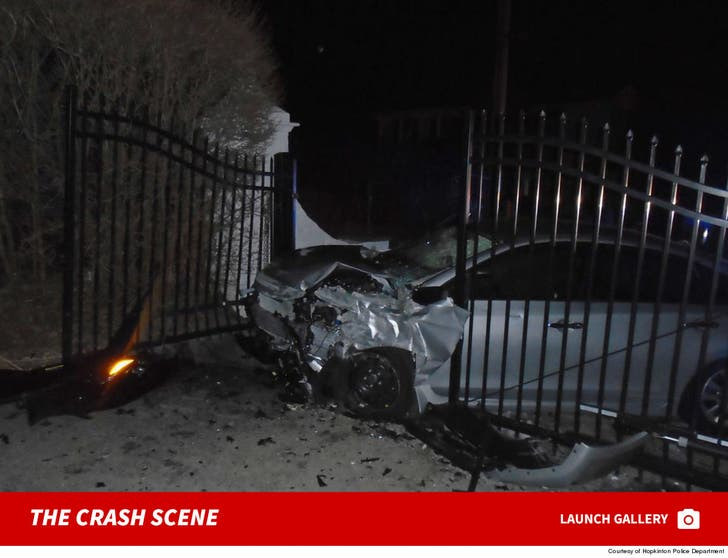 Taylor Swift -- Stolen Car Crashes into Home