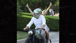 Ben Affleck and Ana De Armas Ride Motorcycle on 48th Birthday