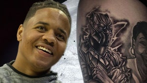 NBA's Markelle Fultz Gets Amazing Foot-Long 'Black Panther' Tattoo On Thigh