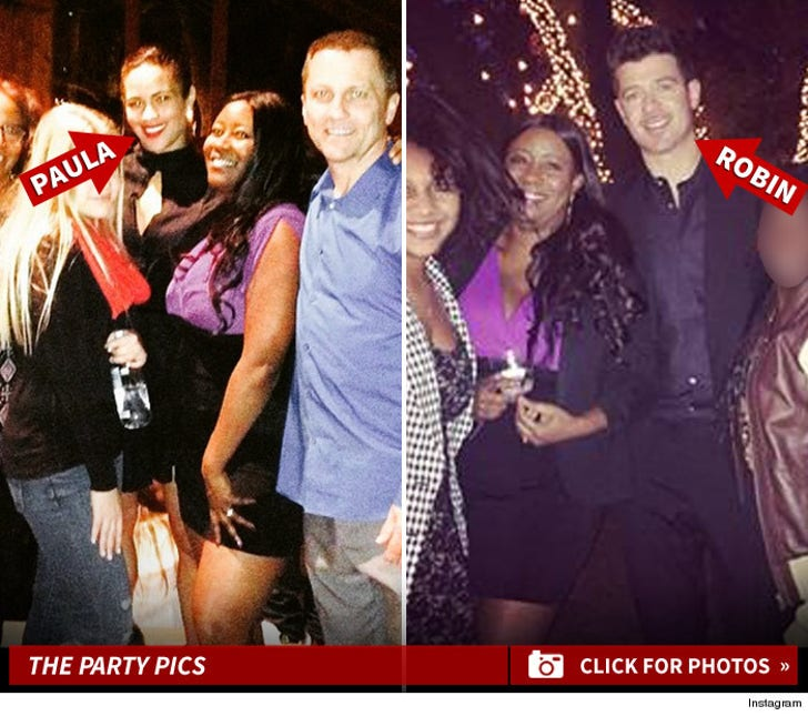 Robin Thicke & Paula Patton Party Together For the Holidays