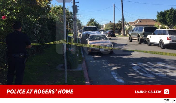 Police at Jackie Jerome Rogers' Home