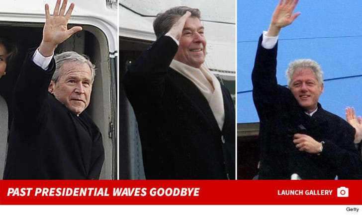 Presidential Waves Goodbye