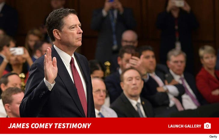 James Comey -- Testimony Photos