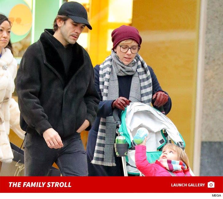 Scarlett Johansson and Romain Dauriac Take A Family Stroll