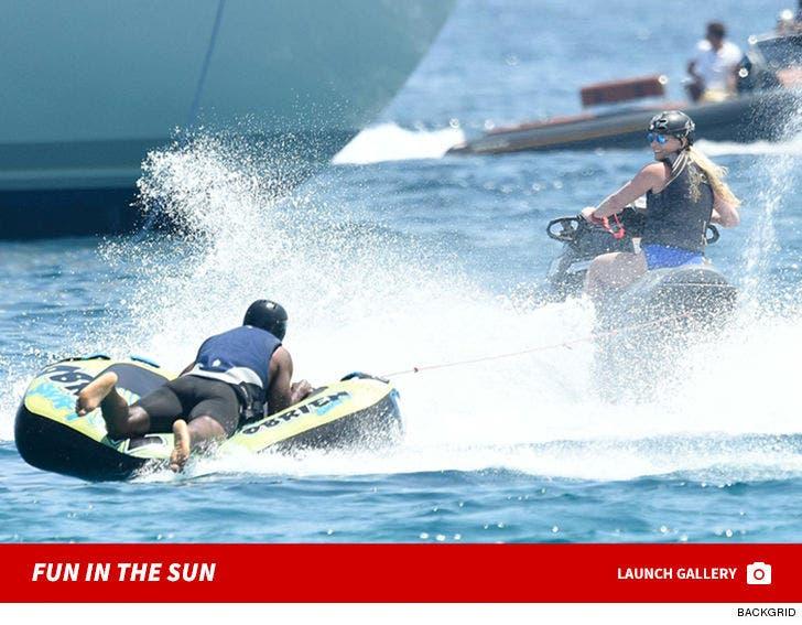 Lindsey Vonn and P.K. Subban Show Off Jet Ski Skills In Sardinia