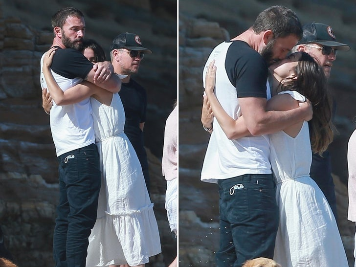 Ben Affleck and Ana De Armas -- Couples Beach Day PDA